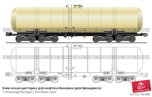 8-ми осная цистерна для нефти и бензина (для брендинга), иллюстрация № 166868 (c) Александр Володин / Фотобанк Лори