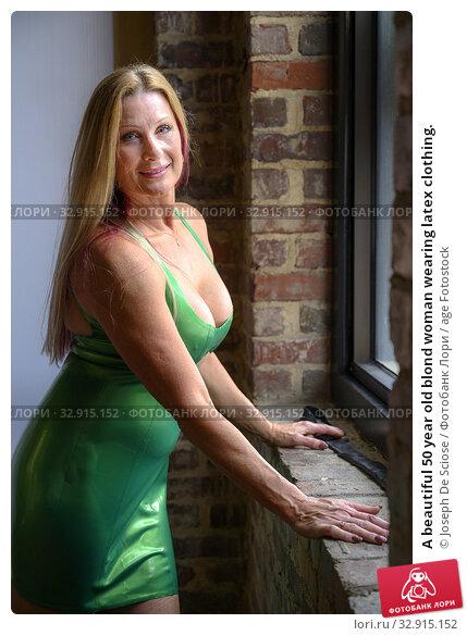 A beautiful 50 year old blond woman wearing latex clothing. Стоковое фото, фотограф Joseph De Sciose / age Fotostock / Фотобанк Лори