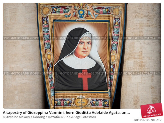 A tapestry of Giuseppina Vannini, born Giuditta Adelaide Agata, an... Стоковое фото, фотограф Antoine Mekary / Godong / age Fotostock / Фотобанк Лори