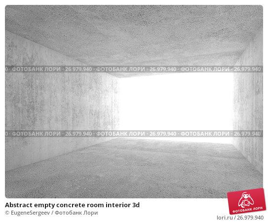 Abstract empty concrete room interior 3d, иллюстрация № 26979940 (c) Евгений Сергеев / Фотобанк Лори