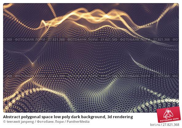 Купить «Abstract polygonal space low poly dark background, 3d rendering», фото № 27821368, снято 22 октября 2018 г. (c) PantherMedia / Фотобанк Лори