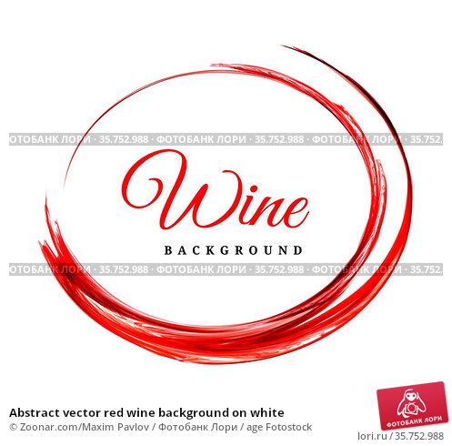 Abstract vector red wine background on white. Стоковое фото, фотограф Zoonar.com/Maxim Pavlov / age Fotostock / Фотобанк Лори