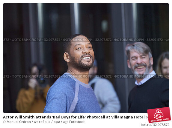 Actor Will Smith attends 'Bad Boys for Life' Photocall at Villamagna Hotel on January 8, 2020 in Madrid, Spain. Редакционное фото, фотограф Manuel Cedron / age Fotostock / Фотобанк Лори