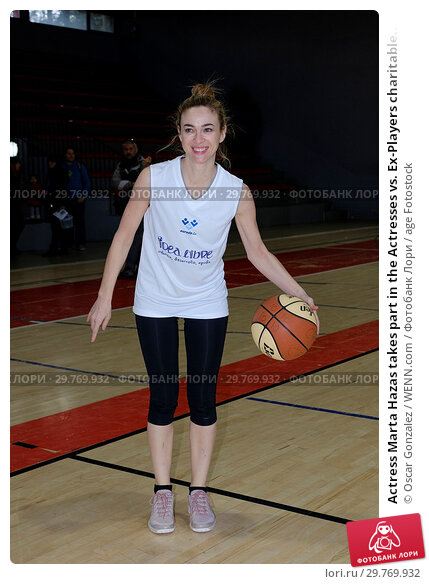 Купить «Actress Marta Hazas takes part in the Actresses vs. Ex-Players charitable women's basketball game at the Sports Facilities of the Canal de Madrid. Featuring...», фото № 29769932, снято 3 марта 2018 г. (c) age Fotostock / Фотобанк Лори