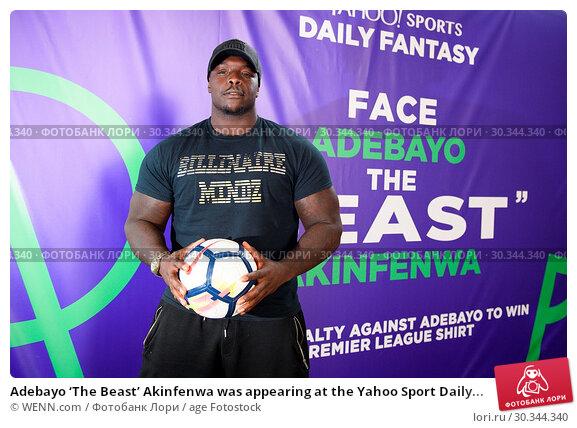 Купить «Adebayo 'The Beast' Akinfenwa was appearing at the Yahoo Sport Daily Fantasy Deadline Day Dugout event at Boxpark, Shoreditch. Featuring: Adebayo Akinfenwa...», фото № 30344340, снято 31 августа 2017 г. (c) age Fotostock / Фотобанк Лори