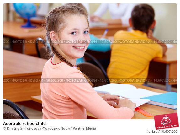 Adorable schoolchild. Стоковое фото, фотограф Dmitriy Shironosov / PantherMedia / Фотобанк Лори