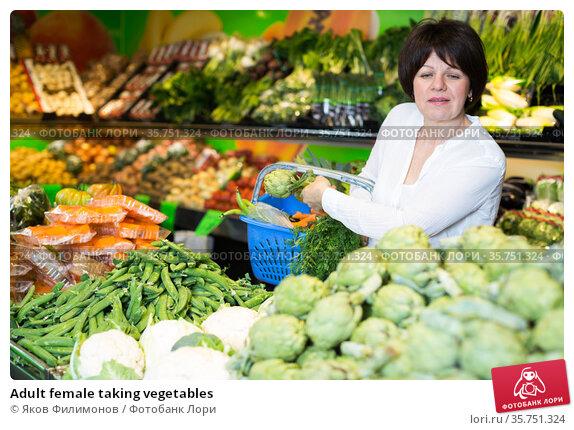 Adult female taking vegetables. Стоковое фото, фотограф Яков Филимонов / Фотобанк Лори