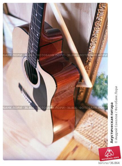 Акустическая гитара, фото № 36864, снято 21 июля 2017 г. (c) Андрей Соколов / Фотобанк Лори