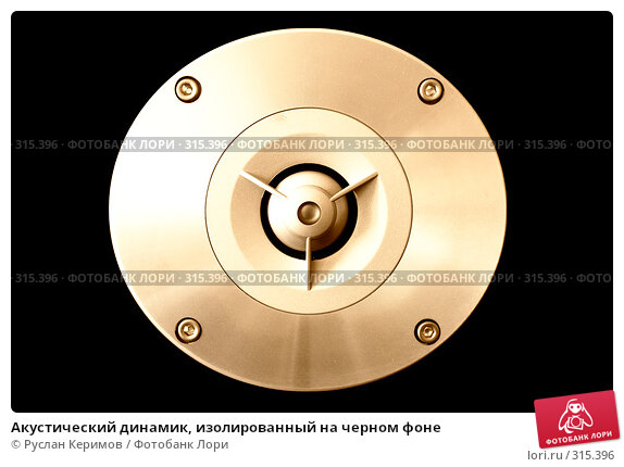 Акустический динамик, изолированный на черном фоне, фото № 315396, снято 29 мая 2008 г. (c) Руслан Керимов / Фотобанк Лори