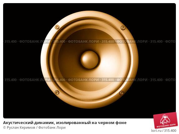 Акустический динамик, изолированный на черном фоне, фото № 315400, снято 29 мая 2008 г. (c) Руслан Керимов / Фотобанк Лори