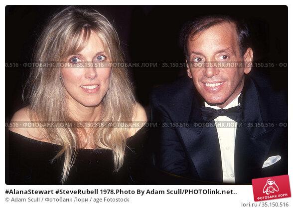 #AlanaStewart #SteveRubell 1978.Photo By Adam Scull/PHOTOlink.net.. Редакционное фото, фотограф Adam Scull / age Fotostock / Фотобанк Лори