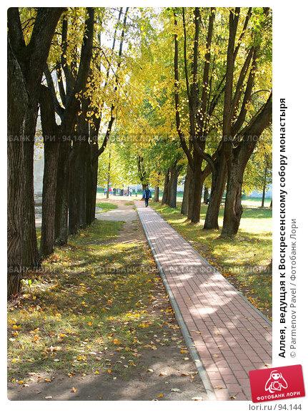 Аллея, ведущая к Воскресенскому собору монастыря, фото № 94144, снято 19 сентября 2007 г. (c) Parmenov Pavel / Фотобанк Лори