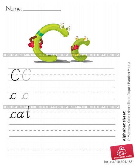 Alphabet sheet. Стоковая иллюстрация, иллюстратор Matthew Cole / PantherMedia / Фотобанк Лори