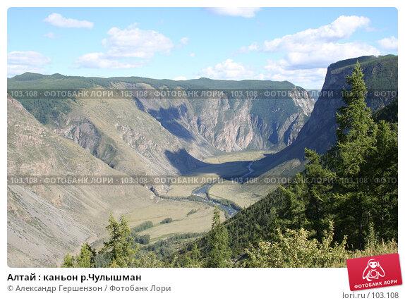 Алтай : каньон р.Чулышман, фото № 103108, снято 17 августа 2017 г. (c) Александр Гершензон / Фотобанк Лори
