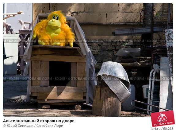 Купить «Альтернативный сторож во дворе», фото № 60268, снято 19 мая 2007 г. (c) Юрий Синицын / Фотобанк Лори