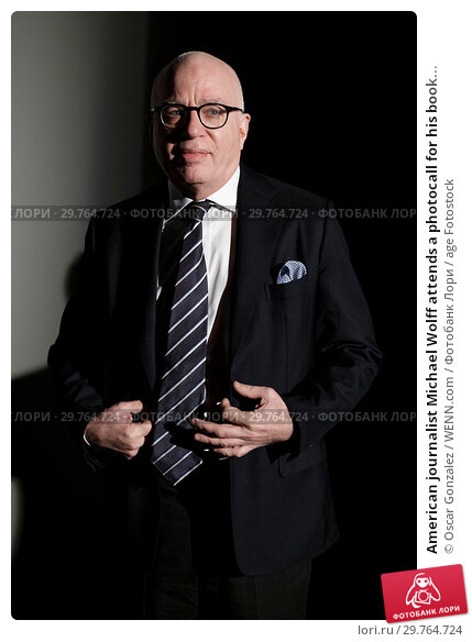 Купить «American journalist Michael Wolff attends a photocall for his book 'Fire and Fury: Inside the Trump White House' at Casa de America in Madrid, Spain. Featuring...», фото № 29764724, снято 19 февраля 2018 г. (c) age Fotostock / Фотобанк Лори