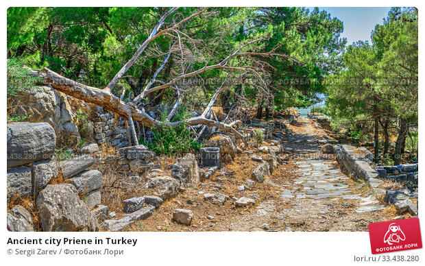 Купить «Ancient city Priene in Turkey», фото № 33438280, снято 20 июля 2019 г. (c) Sergii Zarev / Фотобанк Лори