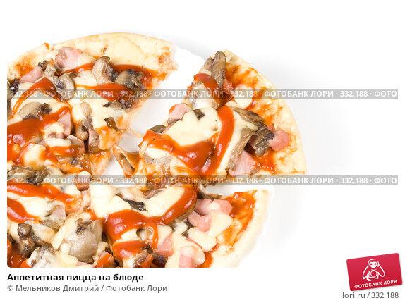 Аппетитная пицца на блюде, фото № 332188, снято 15 мая 2008 г. (c) Мельников Дмитрий / Фотобанк Лори