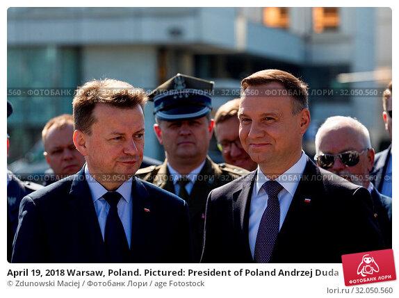 April 19, 2018 Warsaw, Poland. Pictured: President of Poland Andrzej Duda. Редакционное фото, фотограф Zdunowski Maciej / age Fotostock / Фотобанк Лори