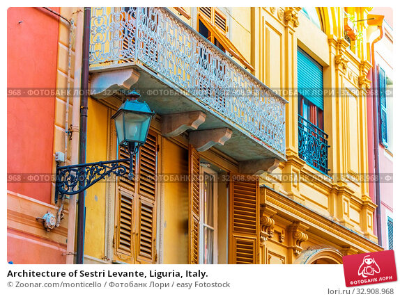 Architecture of Sestri Levante, Liguria, Italy. Стоковое фото, фотограф Zoonar.com/monticello / easy Fotostock / Фотобанк Лори