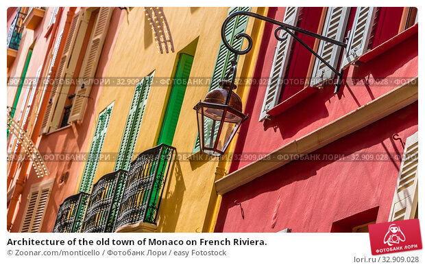 Architecture of the old town of Monaco on French Riviera. Стоковое фото, фотограф Zoonar.com/monticello / easy Fotostock / Фотобанк Лори