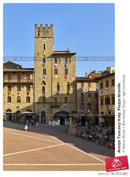 Arezzo Tuscany Italy. Piazza Grande. Стоковое фото, фотограф Marco Brivio / age Fotostock / Фотобанк Лори