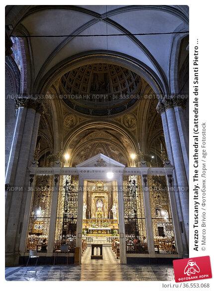 Arezzo Tuscany Italy. The Cathedral (Cattedrale dei Santi Pietro ... Стоковое фото, фотограф Marco Brivio / age Fotostock / Фотобанк Лори