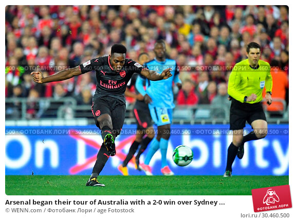 Arsenal began their tour of Australia with a 2-0 win over Sydney ... (2017 год). Редакционное фото, фотограф WENN.com / age Fotostock / Фотобанк Лори
