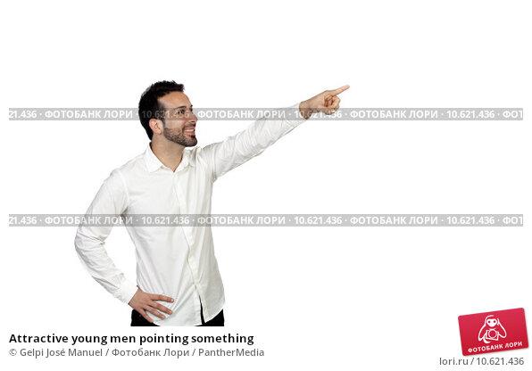 Attractive young men pointing something. Стоковое фото, фотограф Gelpi José Manuel / PantherMedia / Фотобанк Лори