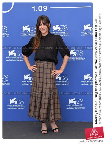 Audrey Dana during the photocall at the 78th Venice Film Festival... Редакционное фото, фотограф Maria Laura Antonelli / AGF/Maria Laura Antonelli / age Fotostock / Фотобанк Лори