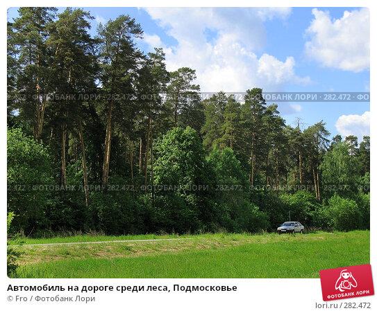 Автомобиль на дороге среди леса, Подмосковье, фото № 282472, снято 4 июня 2005 г. (c) Fro / Фотобанк Лори