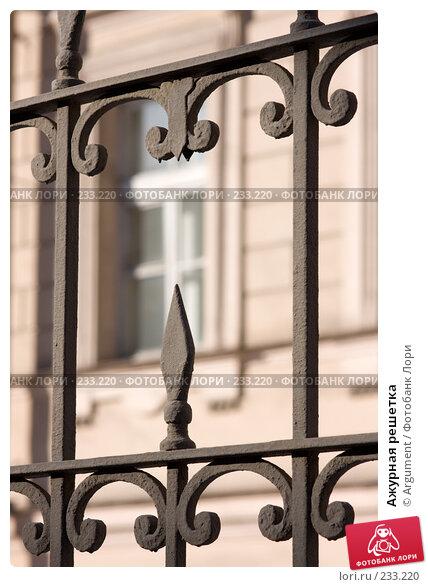 Купить «Ажурная решетка», фото № 233220, снято 6 марта 2008 г. (c) Argument / Фотобанк Лори