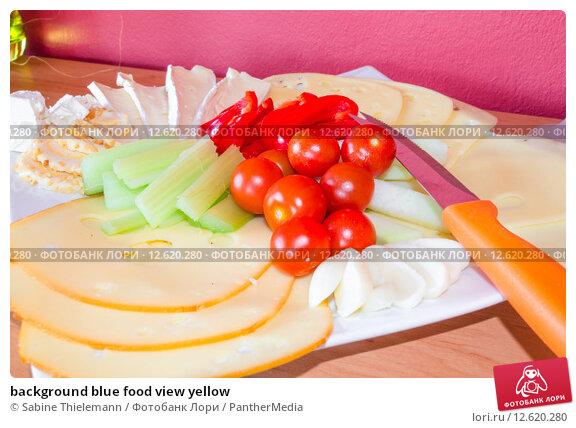 Купить «background blue food view yellow», фото № 12620280, снято 26 мая 2019 г. (c) PantherMedia / Фотобанк Лори