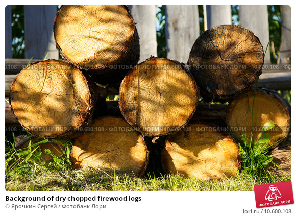 Background of dry chopped firewood logs. Стоковое фото, фотограф Ярочкин Сергей / Фотобанк Лори