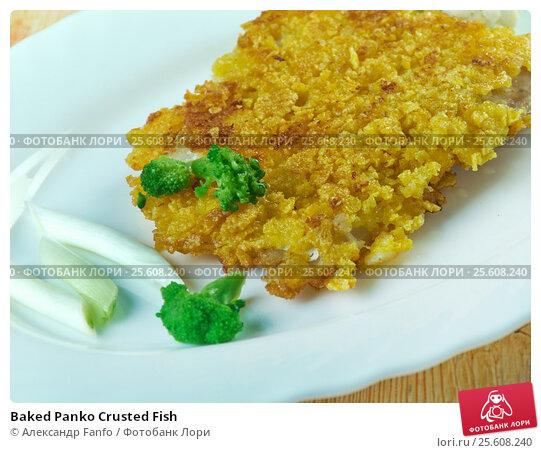 Купить «Baked Panko Crusted Fish», фото № 25608240, снято 22 февраля 2017 г. (c) Александр Fanfo / Фотобанк Лори