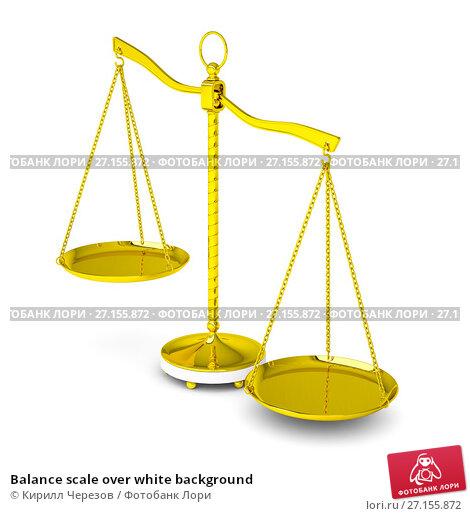 Купить «Balance scale over white background», иллюстрация № 27155872 (c) Кирилл Черезов / Фотобанк Лори