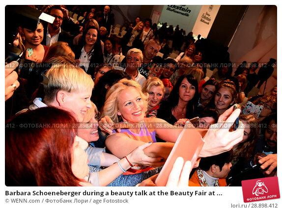 Купить «Barbara Schoeneberger during a beauty talk at the Beauty Fair at Duesseldorf Messe. Featuring: Barbara Schoeneberger Where: Duesseldorf, Germany When: 02 Apr 2017 Credit: WENN.com», фото № 28898412, снято 2 апреля 2017 г. (c) age Fotostock / Фотобанк Лори