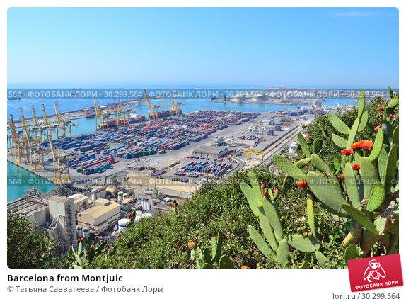 Купить «Barcelona from Montjuic», фото № 30299564, снято 5 июня 2016 г. (c) Татьяна Савватеева / Фотобанк Лори