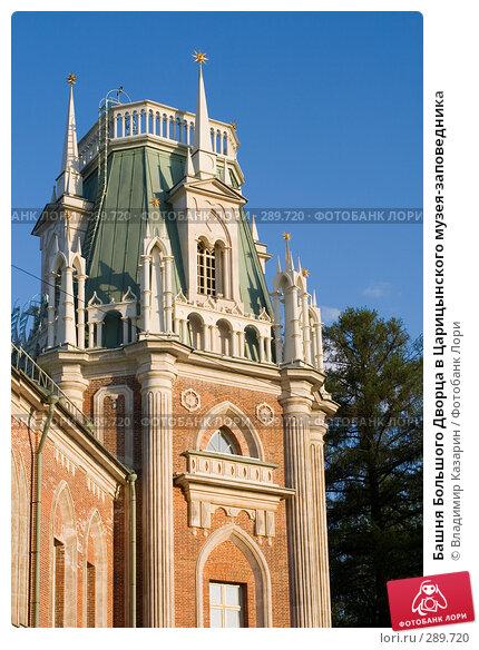 Башня Большого Дворца в Царицынского музея-заповедника, фото № 289720, снято 17 мая 2008 г. (c) Владимир Казарин / Фотобанк Лори
