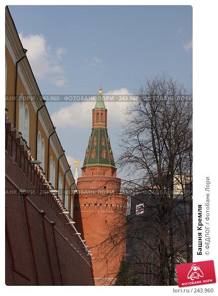 Башня Кремля, фото № 243960, снято 6 апреля 2008 г. (c) ФЕДЛОГ.РФ / Фотобанк Лори