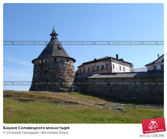 Башня Соловецкого монастыря, фото № 208996, снято 17 июля 2005 г. (c) Устинов Геннадий / Фотобанк Лори