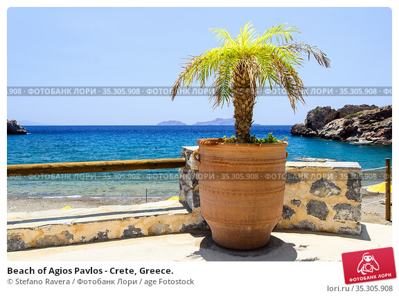 Beach of Agios Pavlos - Crete, Greece. Стоковое фото, фотограф Stefano Ravera / age Fotostock / Фотобанк Лори