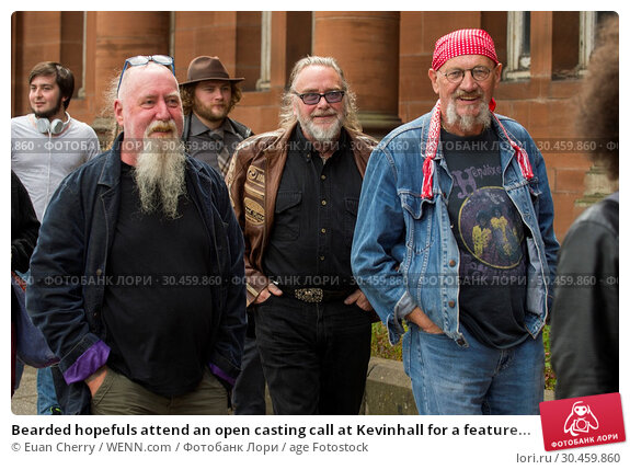 Bearded hopefuls attend an open casting call at Kevinhall for a feature... (2017 год). Редакционное фото, фотограф Euan Cherry / WENN.com / age Fotostock / Фотобанк Лори