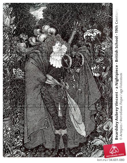 Beardsley Aubrey Vincent - a Nightpiece - British School - 19th Century... Стоковое фото, фотограф Artepics / age Fotostock / Фотобанк Лори