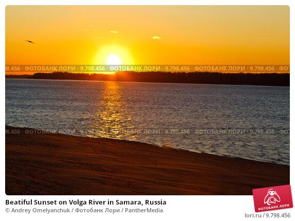 Купить «Beatiful Sunset on Volga River in Samara, Russia», фото № 9798456, снято 17 июня 2018 г. (c) PantherMedia / Фотобанк Лори