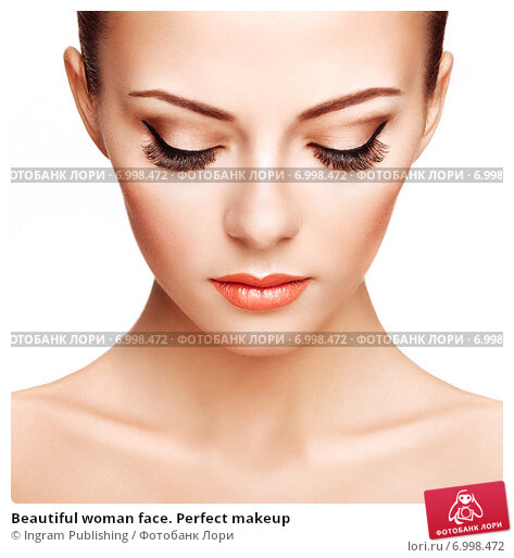 Купить «Beautiful woman face. Perfect makeup», фото № 6998472, снято 22 февраля 2014 г. (c) Ingram Publishing / Фотобанк Лори