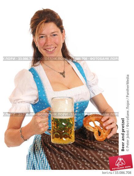 Купить «Beer and pretzel», фото № 33086708, снято 18 февраля 2020 г. (c) PantherMedia / Фотобанк Лори