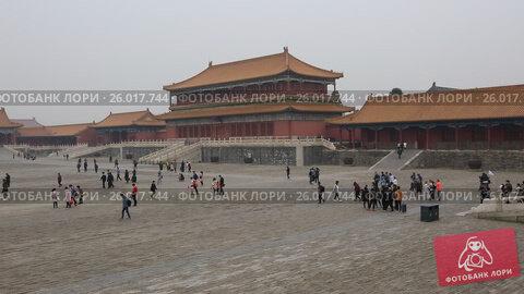 Купить «Beijing. The Palace Museum, Forbidden city», видеоролик № 26017744, снято 3 апреля 2017 г. (c) Яна Королёва / Фотобанк Лори