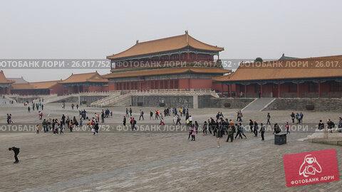 Купить «Beijing. The Palace Museum, Forbidden city», видеоролик № 26017752, снято 3 апреля 2017 г. (c) Яна Королёва / Фотобанк Лори