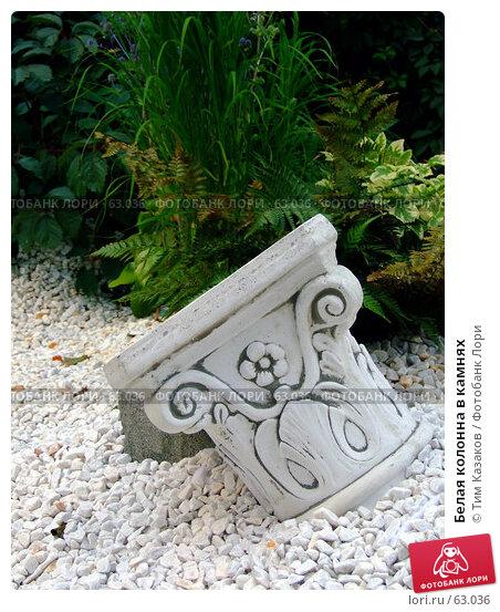 Белая колонна в камнях, фото № 63036, снято 17 июля 2007 г. (c) Тим Казаков / Фотобанк Лори